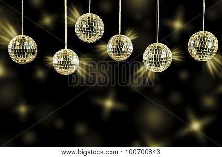 Dj Background With Golden Light Blurs