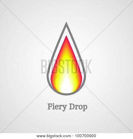 fiery drop logo
