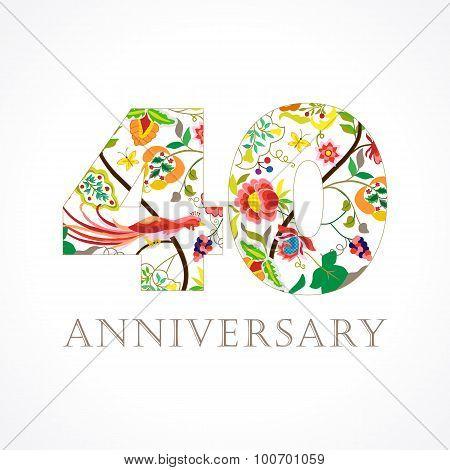 40 anniversary folk logo.