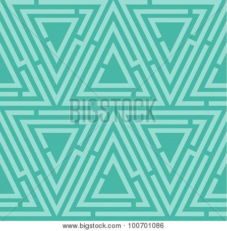 Blue seamless maze pattern