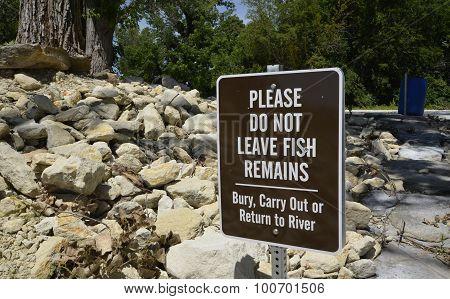 Fish remains sign