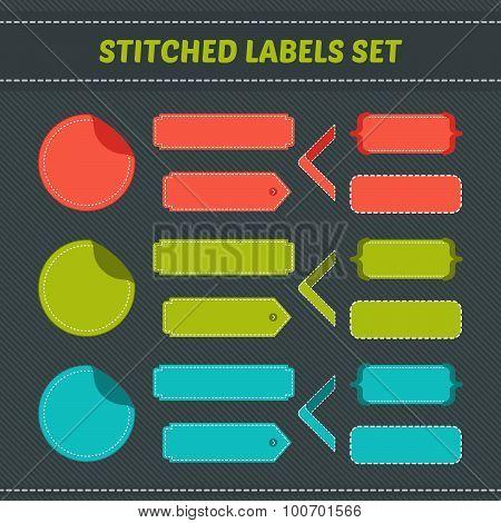 stitched labels set