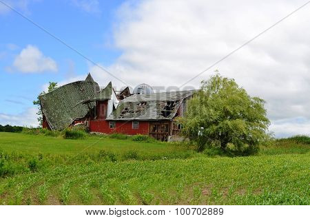 Barn destroyed by weather and age
