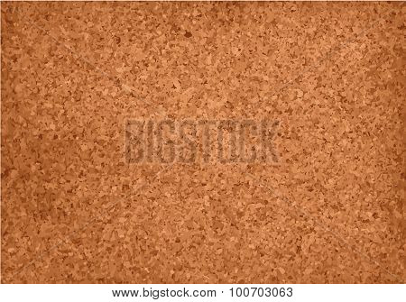 Realistic cork material grunge background.