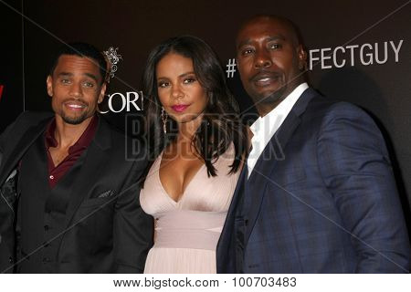 LOS ANGELES - SEP 2:  Michael Ealy, Sanaa Lathan, Morris Chestnut at the