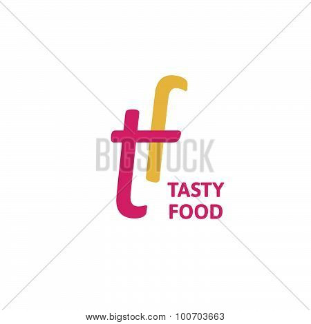 Tasty food restaurant logo concept.