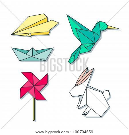 Origami toys colorful set