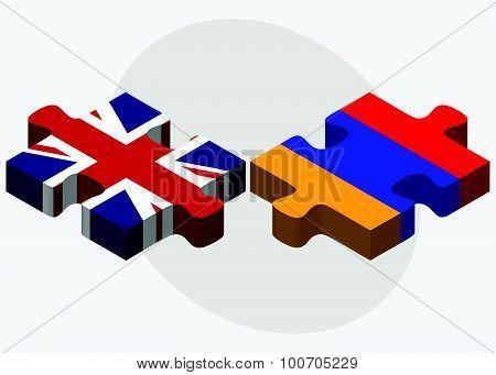 United Kingdom And Armenia Flags