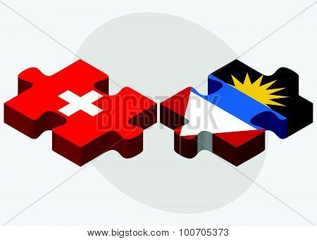 Switzerland And Antigua And Barbuda Flags