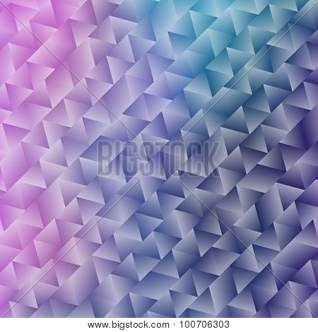 Abstract Shiny Geometric Background with Triangles and Gradients