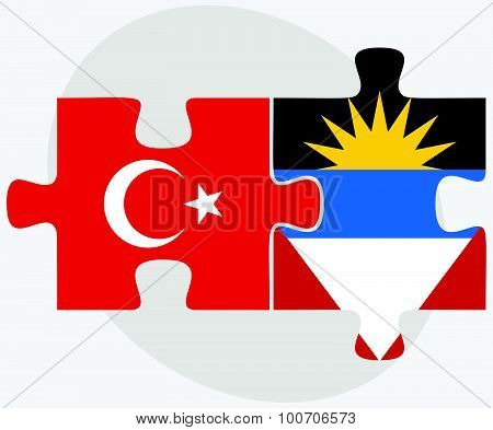 Turkey And Antigua And Barbuda Flags