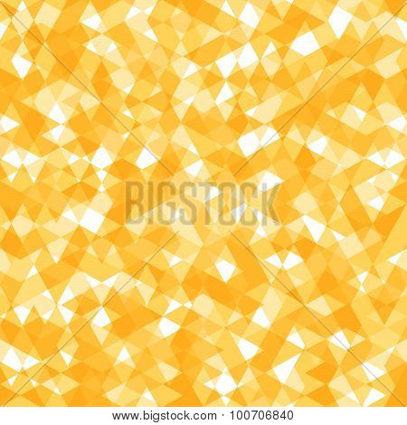 Bright Abstract Seamless Pattern with Yellow and White Lozenges
