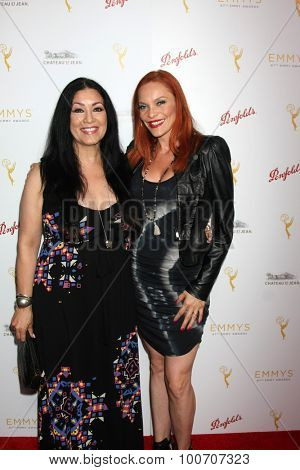 LOS ANGELES - AUG 30:  Doriana Sanchez, Carmit Bachar at the TV Academy Choreography Peer Reception at the Montage Hotel on August 30, 2015 in Beverly Hills, CA
