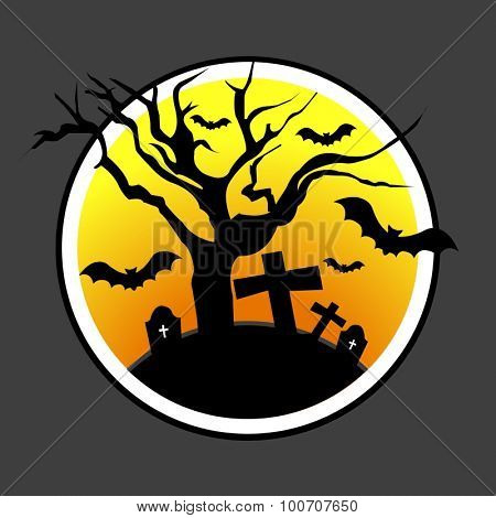 Halloween design with dead tree