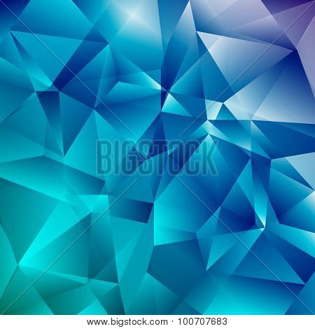 Abstract Faceted Geometric Shiny Background