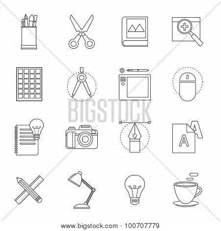 Designer Tool Thin Line Icon