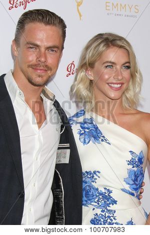 LOS ANGELES - AUG 30:  Derek Hough, Julianne Hough at the TV Academy Choreography Peer Reception at the Montage Hotel on August 30, 2015 in Beverly Hills, CA