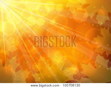 Autumnal yellow and orange horizontal background