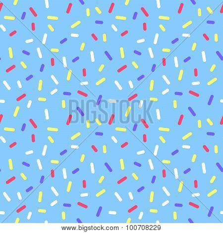 Blue Abstract Donate Colorful Glaze with Sprinkle Confetti