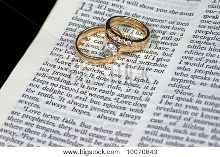 Love Is Patient Bible Verse With Rings