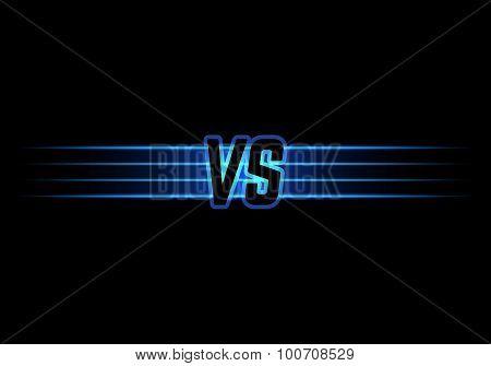 Blue Neon Versus Logo