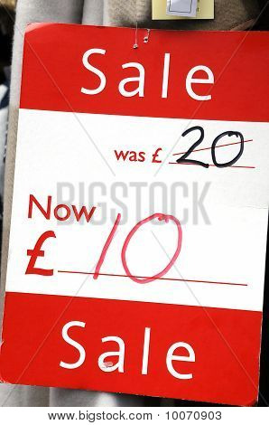 Discount Tag In Uk Pounds