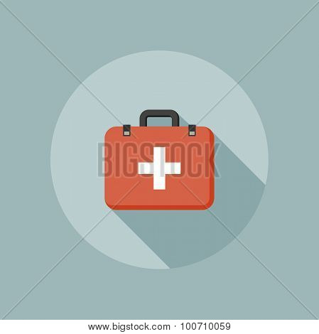 Medical box flat icon