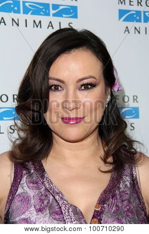 LOS ANGELES - AUG 29:  Jennifer Tilly at the Mercy For Animals Hidden Heroes Gala at the Unici Casa on August 29, 2015 in Culver City, CA