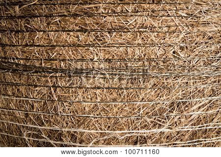 Hay Bail Close Up