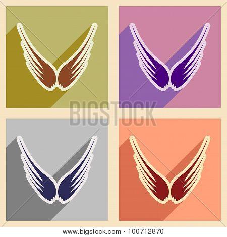 stylish set wings of an eagle
