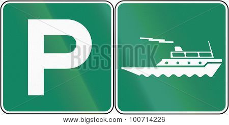 Parking Place For Ferry In Canada