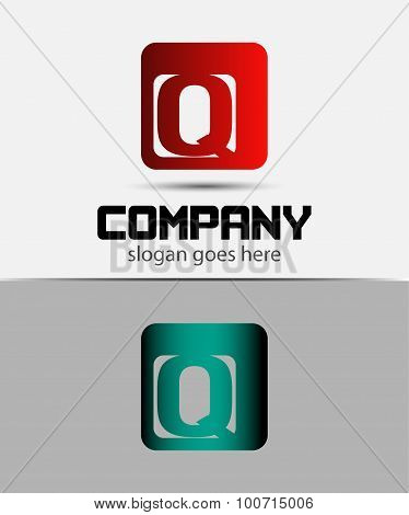 Alphabet Symbols And Elements Of Letter Q, such a logo