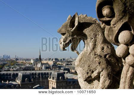 Two Gargoyle Statues