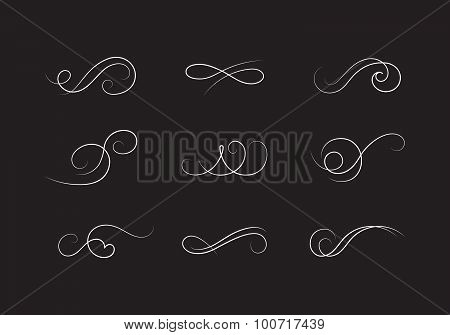 Classic Decorative Stock Vector Flourishes
