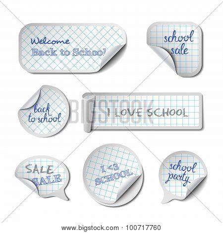 School Vector Banners