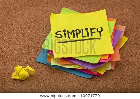 Erinnerung zu vereinfachen