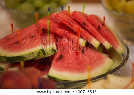 Watermelon Cut Into Wedges