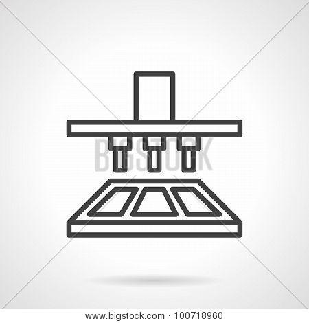 Chocolate bar making machine line vector icon