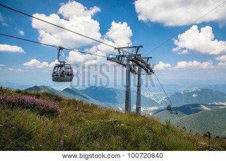Cableway In Range Mala Fatra, Slovakia