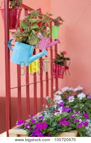 Beautiful Idea For Flower Pots In Garden
