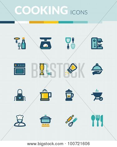 Cooking Colorful Flat Icons