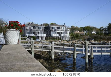 Wood Dock By Townhomes