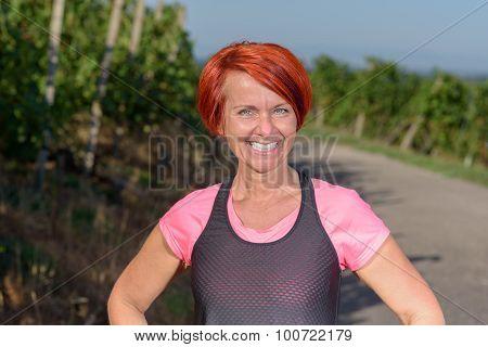 Healthy Vivacious Pretty Redhead Woman