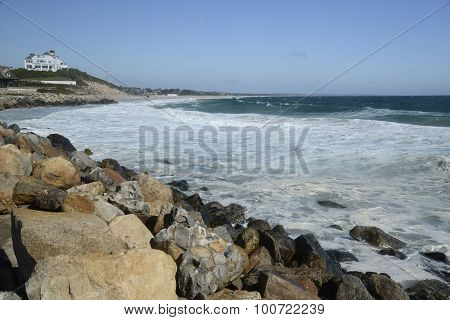 Waves On Coast At Watch Hill Rhode Island