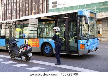 Traffic Police In Madrid