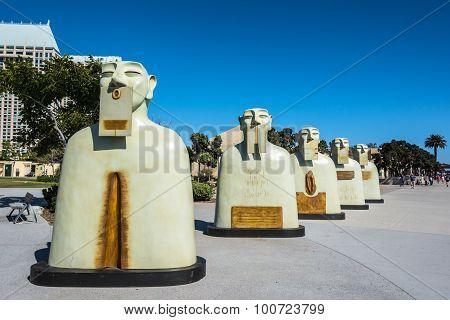 Sculptures in San Diego, California