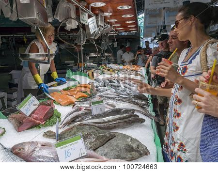 Fish At The Boqueria Market