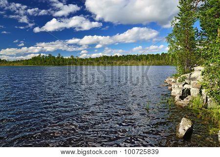 Karelian Spaces. Pongoma Lake, North Karelia, Russia