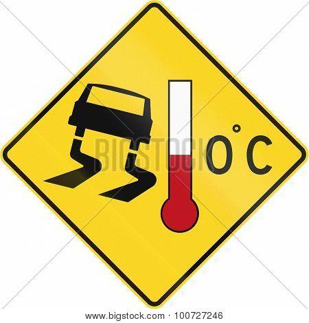 Slip Danger When Cold In Canada