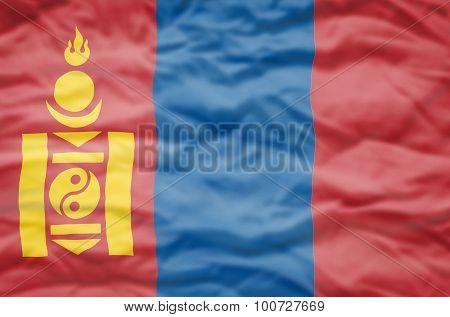 Mongolia flag.
